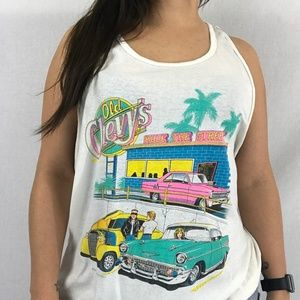 80s Neon Old Chevy's Tank Top